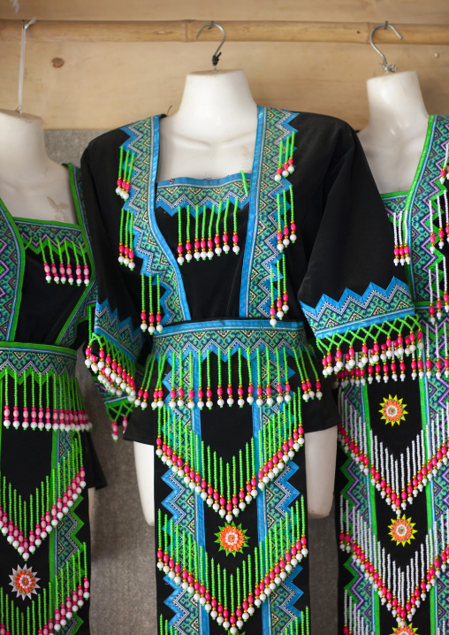 Traditional clothes, Phonsavan, Laos