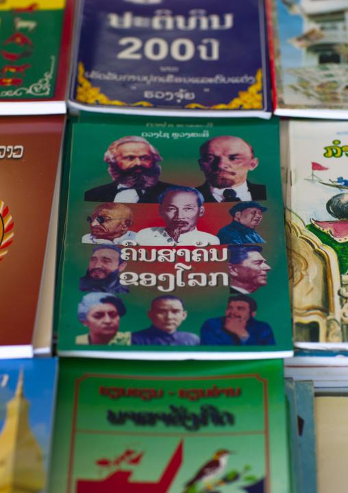 Political books, Vientiane, Laos