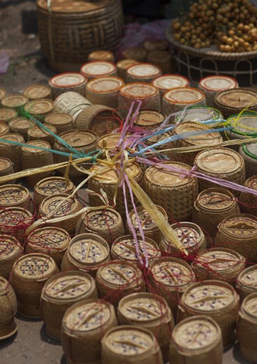 Baskets in a market, Vientiane, Laos