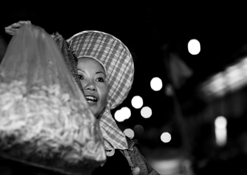 Market seller, Vientiane, Laos