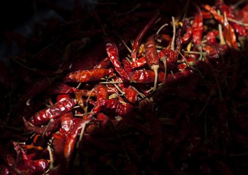 Red chili pepper in a market, Vientiane, Laos