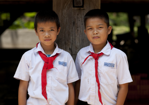 Lao pionners boys, Vientiane, Laos