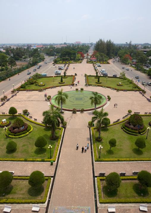 Square view, Vientiane, Laos