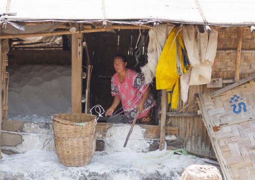 Traditional salt factory, Thalat, Laos