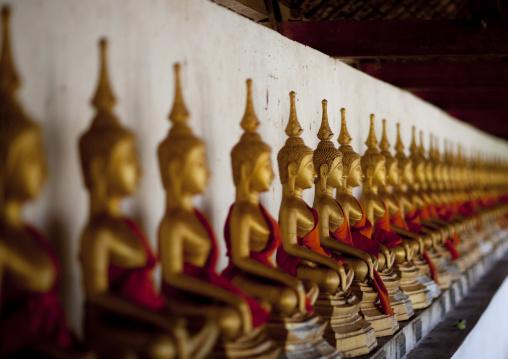 Buddha statue in hang temple, Savannakhet, Laos