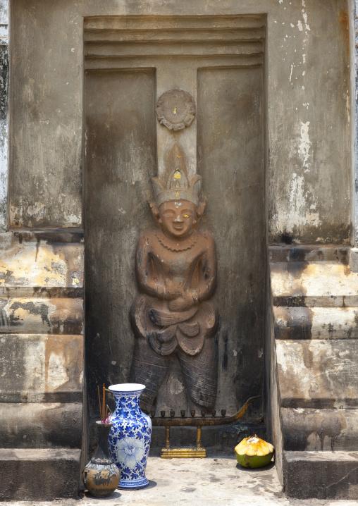 Statue in hang temple, Savannakhet, Laos