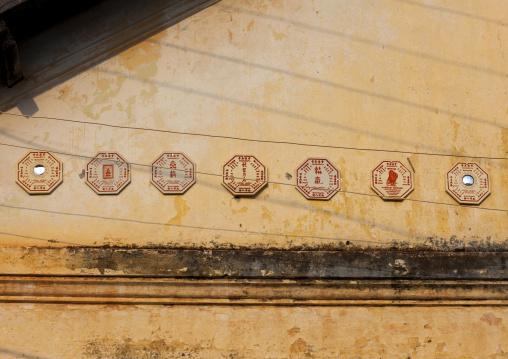 Mirrors on a house, Savannakhet, Laos