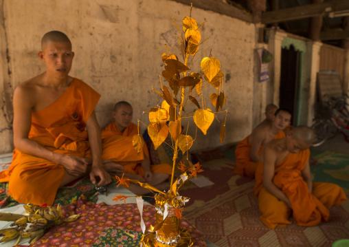 Novice buddhist monks, Nam deng, Laos