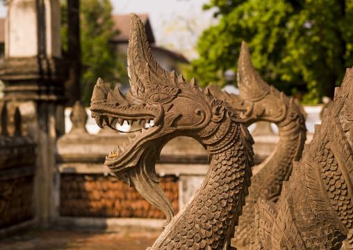 Dragons statues at vat sisaket, Vientiane, Laos