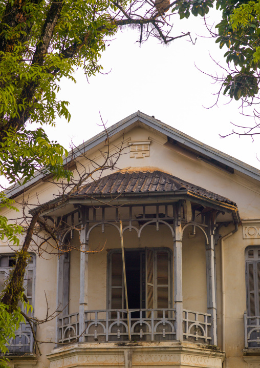Old colonial house, Vientiane, Laos