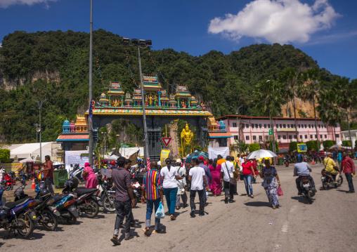 Hindu Devotees In Annual Thaipusam Religious Festival In Batu Caves, Southeast Asia, Kuala Lumpur, Malaysia