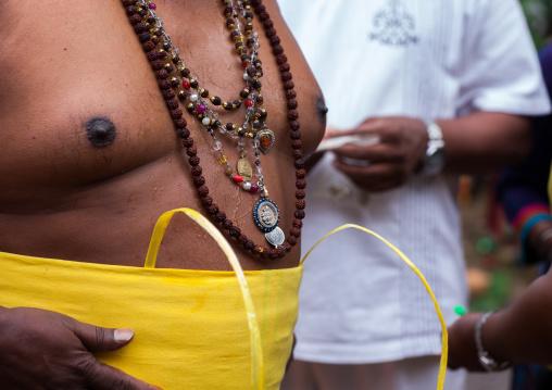 Hindu Devotee Chest In Annual Thaipusam Religious Festival In Batu Caves, Southeast Asia, Kuala Lumpur, Malaysia