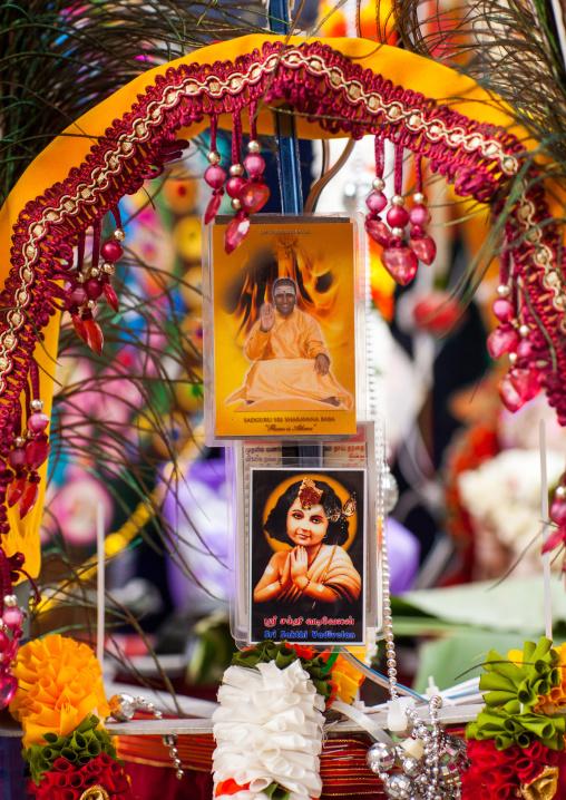Hindu Kavadi Decoration In Annual Thaipusam Religious Festival In Batu Caves, Southeast Asia, Kuala Lumpur, Malaysia
