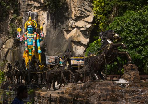 Colorful Statue Of Shiva Hindu God In Batu Caves, Southeast Asia, Kuala Lumpur, Malaysia