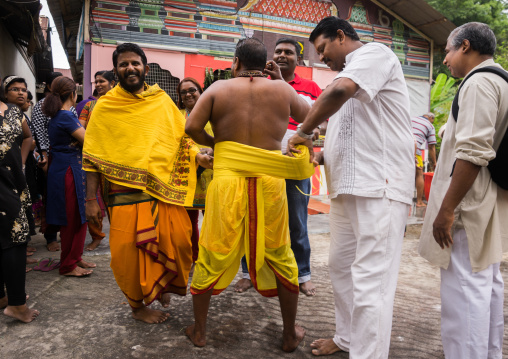 Hindu Devotee Dressing N Annual Thaipusam Religious Festival In Batu Caves, Southeast Asia, Kuala Lumpur, Malaysia