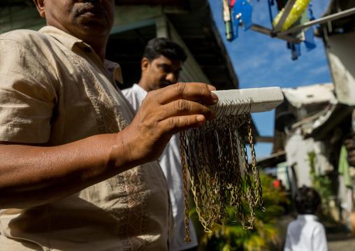 Hooks Used To Pierce Hindu Devotees In Annual Thaipusam Religious Festival In Batu Caves, Southeast Asia, Kuala Lumpur, Malaysia