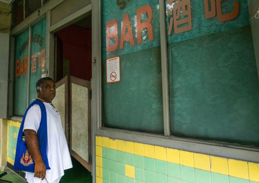 Indian Man Entering A Bar, Perak State, Ipoh, Malaysia