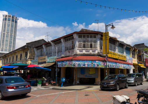 Chinese Shop House In The Unesco World Heritage Zone, Penang Island, George Town, Malaysia