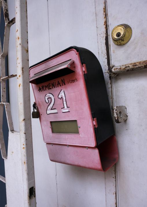 Letterbox In Armenian Street, Penang Island, George Town, Malaysia