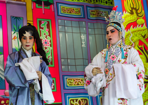 Chinese Opera Actors At Goddess Of Mercy Temple, Penang Island, George Town, Malaysia