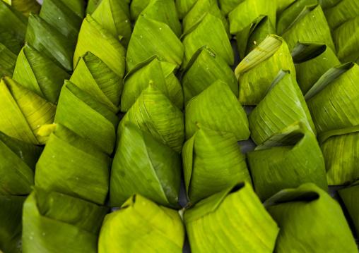 Food In Banana Leaves, George Town, Penang, Malaysia