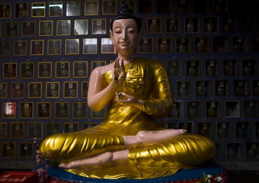 Buddha In Wat Chayamangkalarm, George Town, Penang, Malaysia