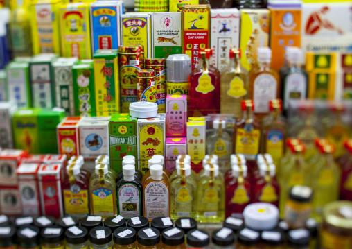 Perfume Bottles Displayed At Shop, George Town, Penang, Malaysia