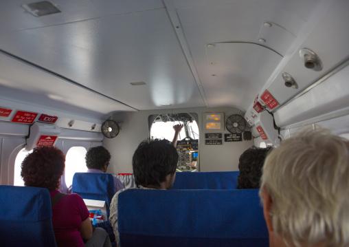 Inside Maldivian Air Taxi Seaplane, Baa Atoll, Maldives