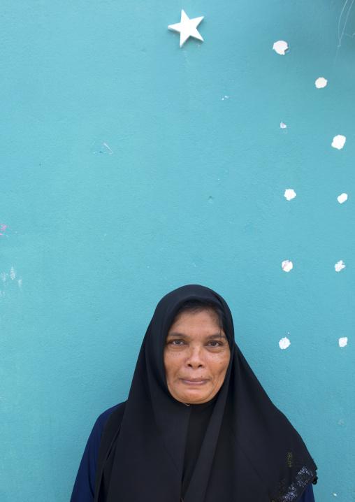 Old Veiled Woman, Eydhafushi, Baa Atoll, Maldives