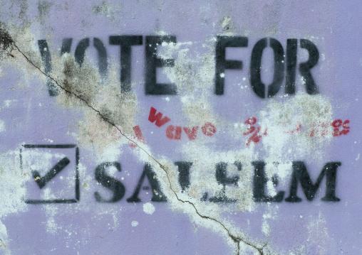 Election Propaganda, Eydhafushi, Baa Atoll, Maldives