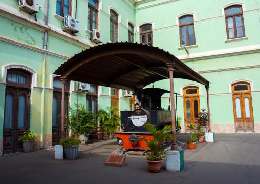 Old Locomotive In The Railway Station, Maputo, Maputo City, Maputo City, Mozambique