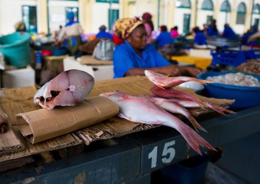 Fish Sold In The Mercado Central, Maputo, Maputo City, Mozambique