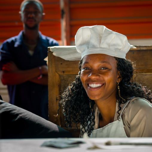 Cooker Woman In Mercado Central, Maputo, Maputo City, Mozambique