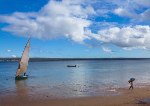 Dhow In The Bay, Inhambane, Inhambane Province, Mozambique