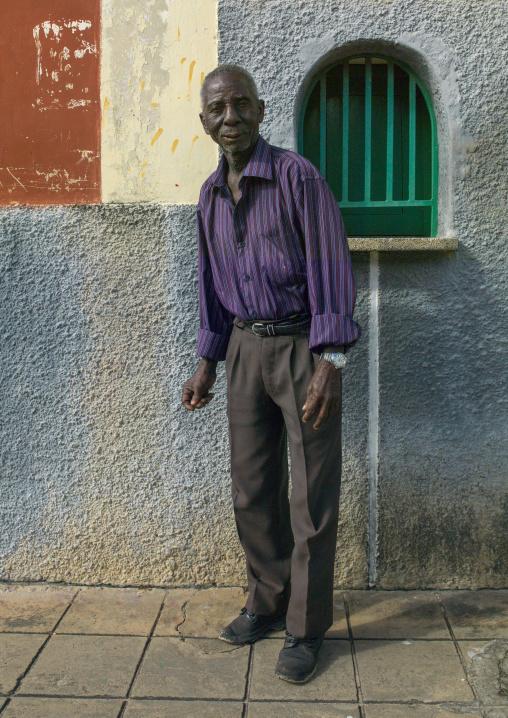 Old Man In The Street, Inhambane, Inhambane Province, Mozambique