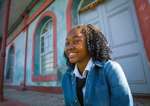 Young Smiling Woman, Inhambane, Inhambane Province, Mozambique