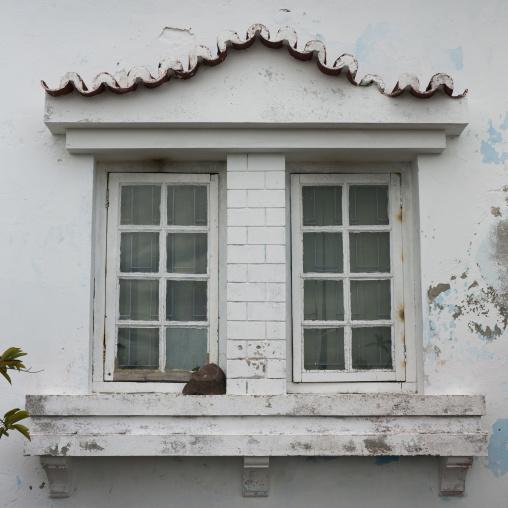 Old Portuguese Colonial Window, Inhambane, Inhambane Province, Mozambique