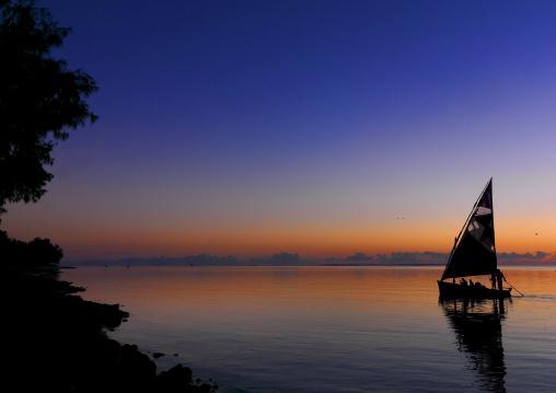 Dhow Sailing In The Sunrise, Vilanculos, Inhambane province, Mozambique