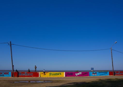 Advertising Signs On The Beach Front, Beira, Sofala Province, Mozambique