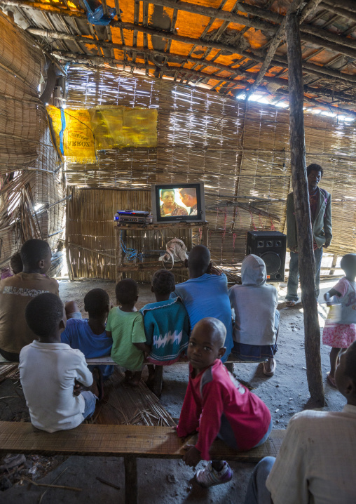 Grande Hotel Slum Television Saloon, Beira, Sofala Province, Mozambique