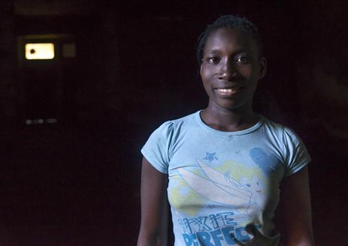 Young Woman Inside The Grande Hotel Slum, Beira, Sofala Province, Mozambique
