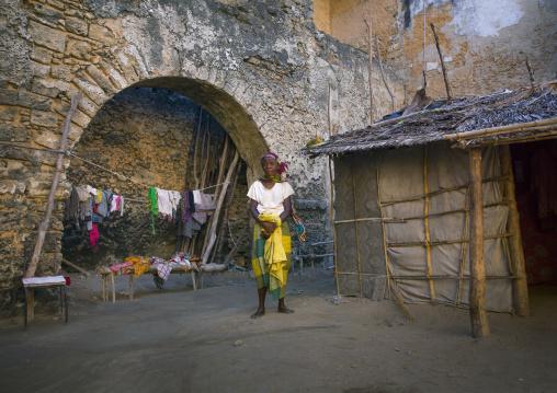 People Living Inside An Old Portuguese Colonial Building, Ilha de Mocambique, Nampula Province, Mozambique