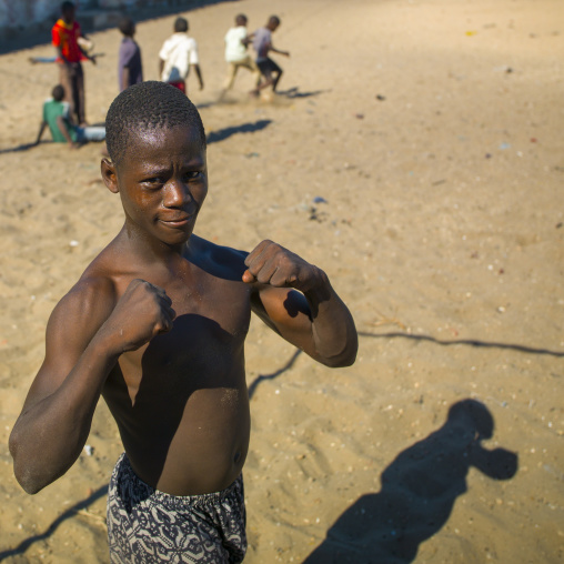 Young Musciular Man, Ilha de Mocambique, Nampula Province, Mozambique