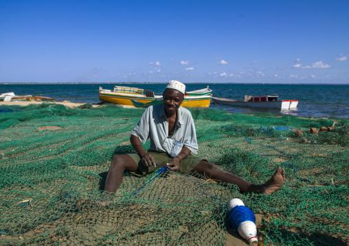 Fishermen On The Beach, Ilha de Mocambique, Nampula Province, Mozambique
