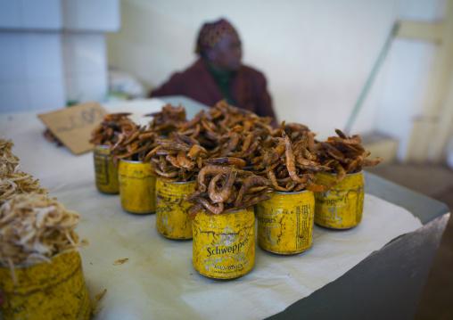 Dried Shrimps Sold In Mercado Central, Maputo, Maputo City, Mozambique