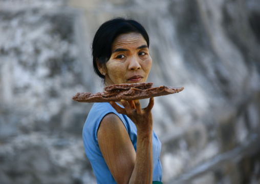Woman With Thanaka On Face, Bagan, Myanmar