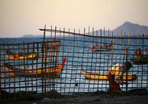 Ngapali Fishermen Boat, Myanmar