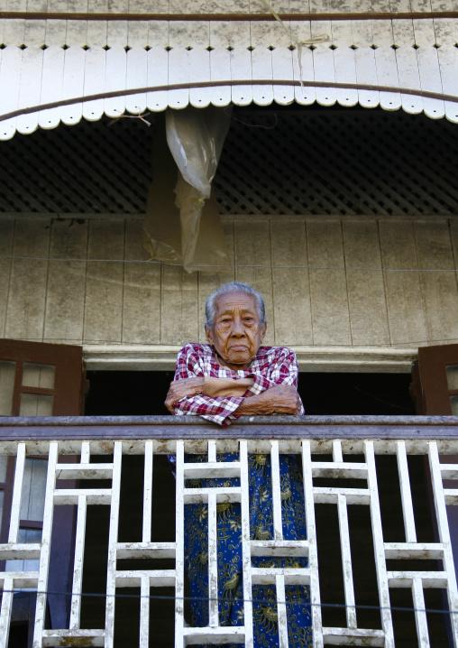 Old Woman In Ngapali, Myanmar