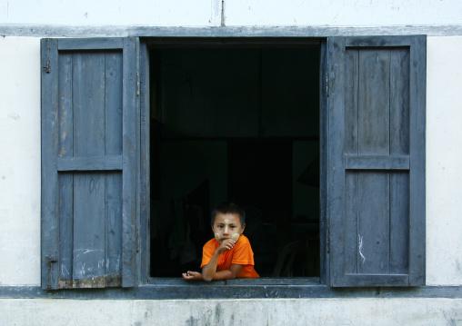 Boy With Thanaka On Cheeks, Ngapali, Myanmar