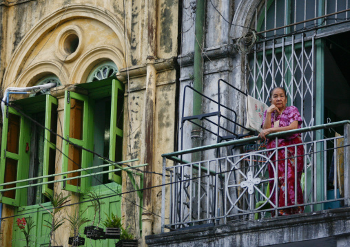 Woman In The Old Colonial Dictrict, Rangoon, Myanmar